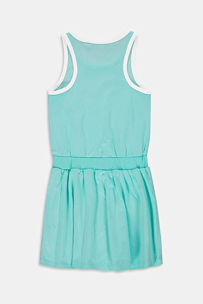 Jersey jurk met rolschaatsprint