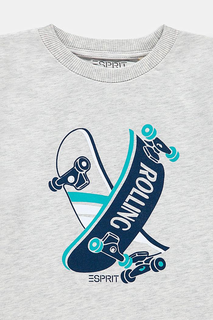 T-shirt met print, 100% katoen, DUSTY NUDE, detail image number 2