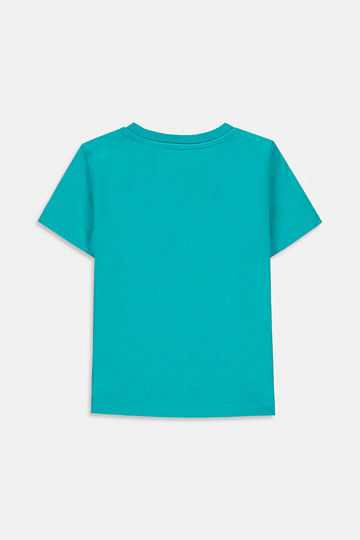 Printed T-shirt, 100% cotton, DARK TURQUOISE, detail image number 1