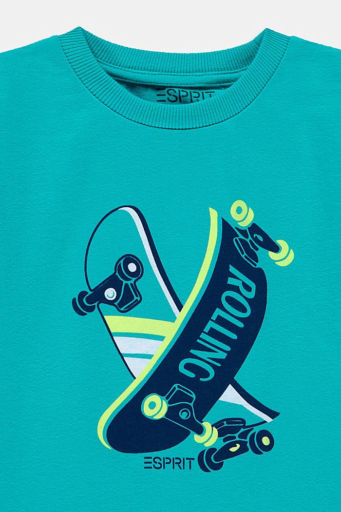 Printed T-shirt, 100% cotton, DARK TURQUOISE, detail image number 2