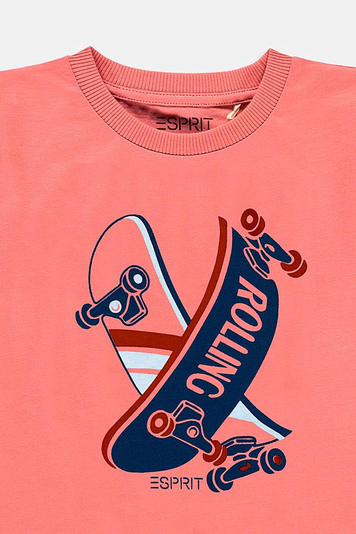T-shirt met print, 100% katoen, DARK OLD PINK, detail image number 2