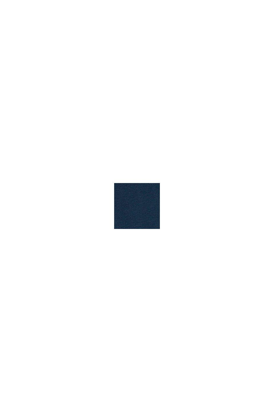 Camiseta en 100% algodón con rótulo, PETROL BLUE, swatch
