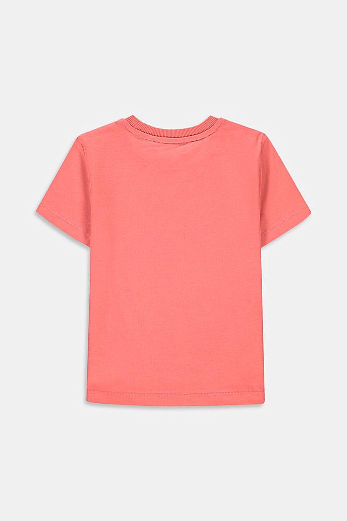T-shirt à inscription, 100% coton, DARK OLD PINK, detail image number 1