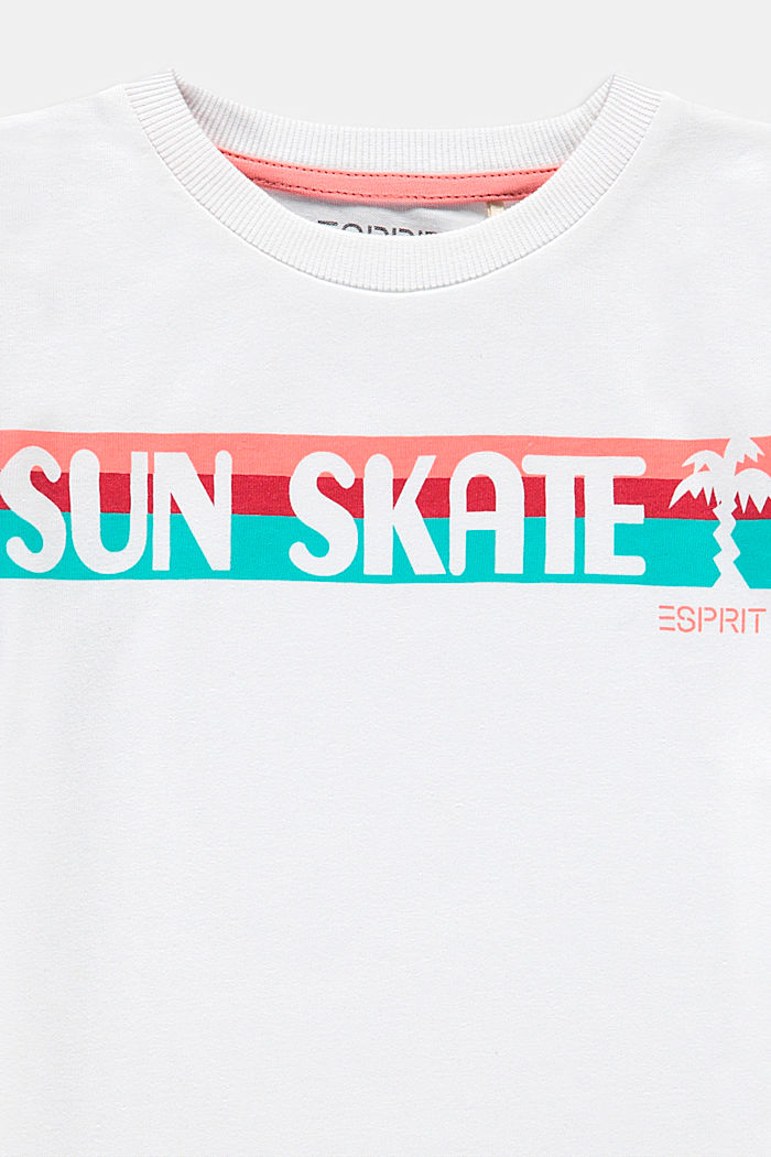 T-shirt with a skate print, 100% cotton, WHITE, detail image number 2