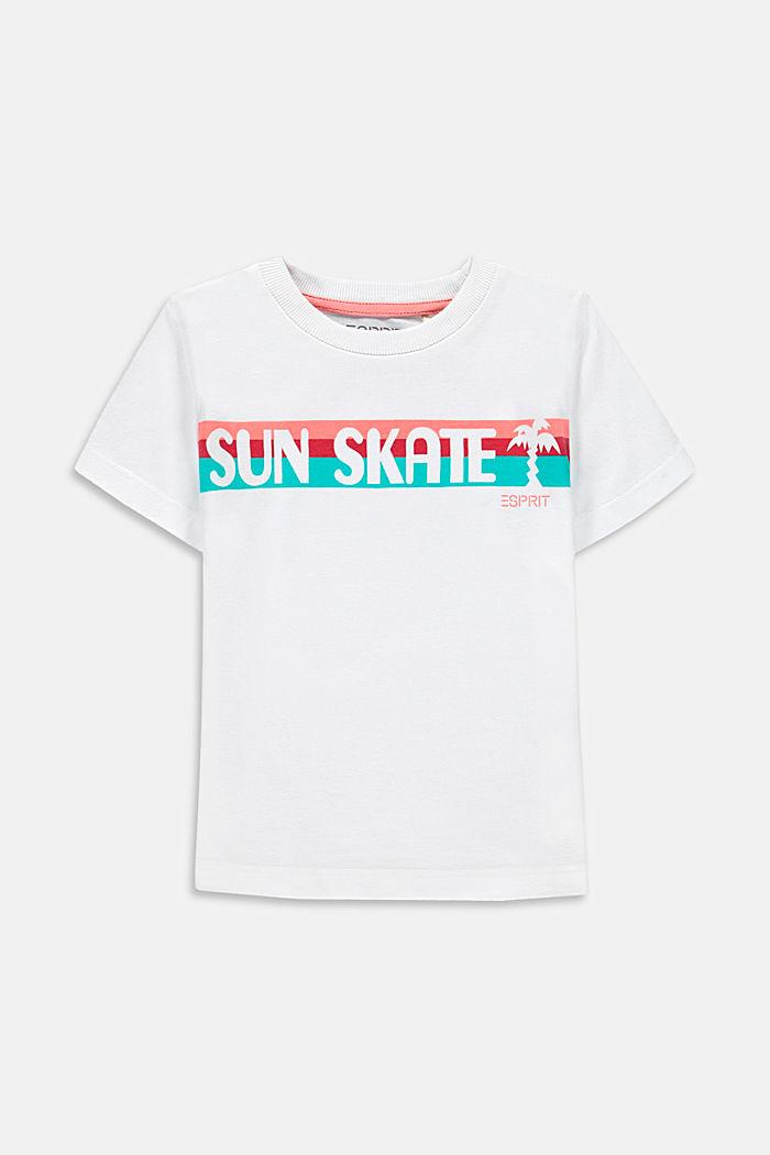 Camiseta con estampado de estilo skater, 100 % algodón