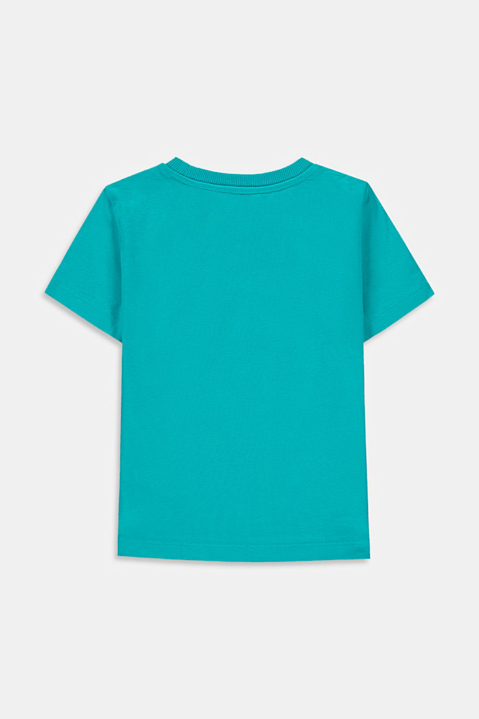 Camiseta con estampado de estilo skater, 100 % algodón, DARK TURQUOISE, detail image number 1