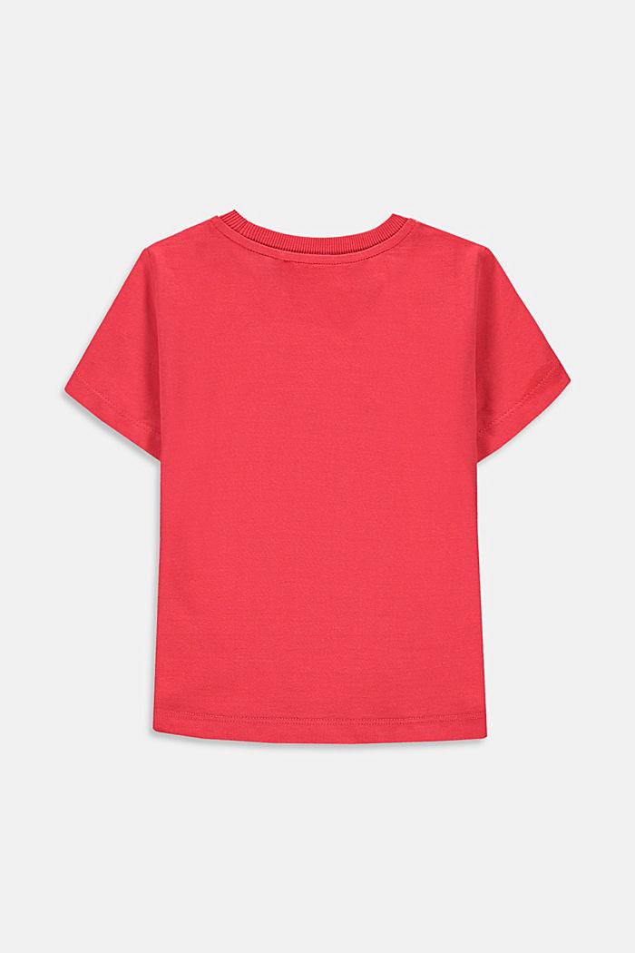 T-shirt met skateprint, 100% katoen, GARNET RED, detail image number 1