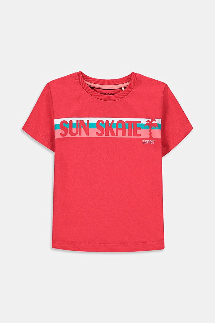 T-shirt met skateprint, 100% katoen, GARNET RED, detail image number 0