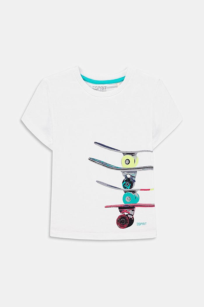 Camiseta con estampado skate, 100 % algodón