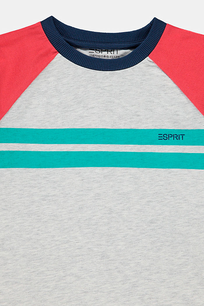 Colorblock-T-Shirt aus 100% Baumwolle, DUSTY NUDE, detail image number 2