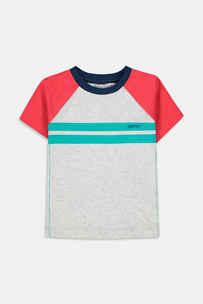 Camiseta con diseño de bloques de color, 100 % algodón
