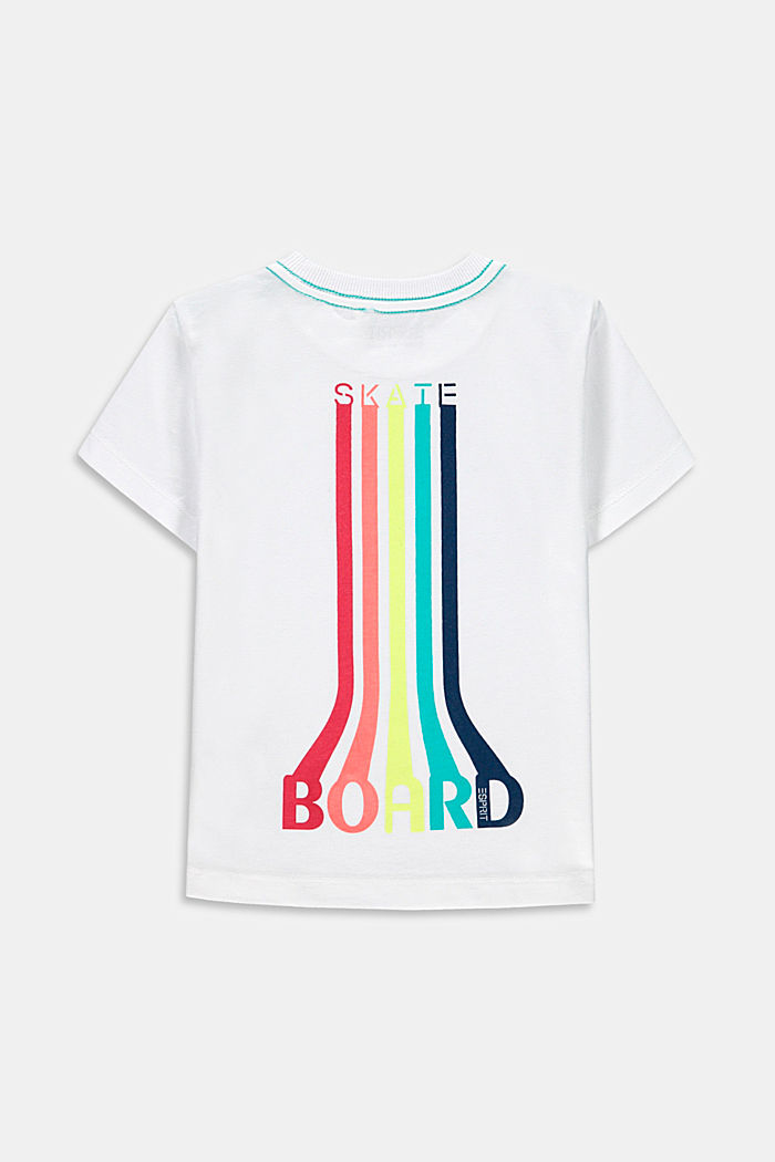 T-shirt with a skate print, 100% cotton, WHITE, detail image number 1