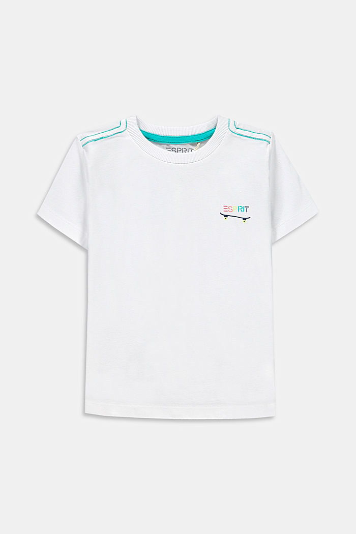 T-shirt with a skate print, 100% cotton, WHITE, detail image number 0