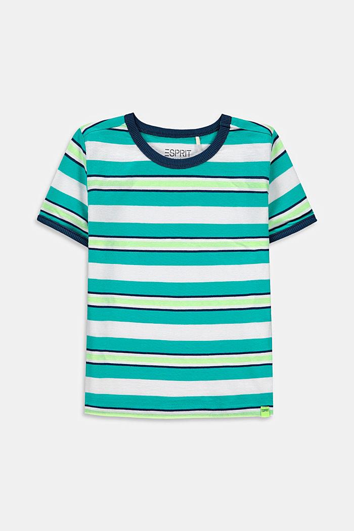 T-shirt met strepen, 100% katoen