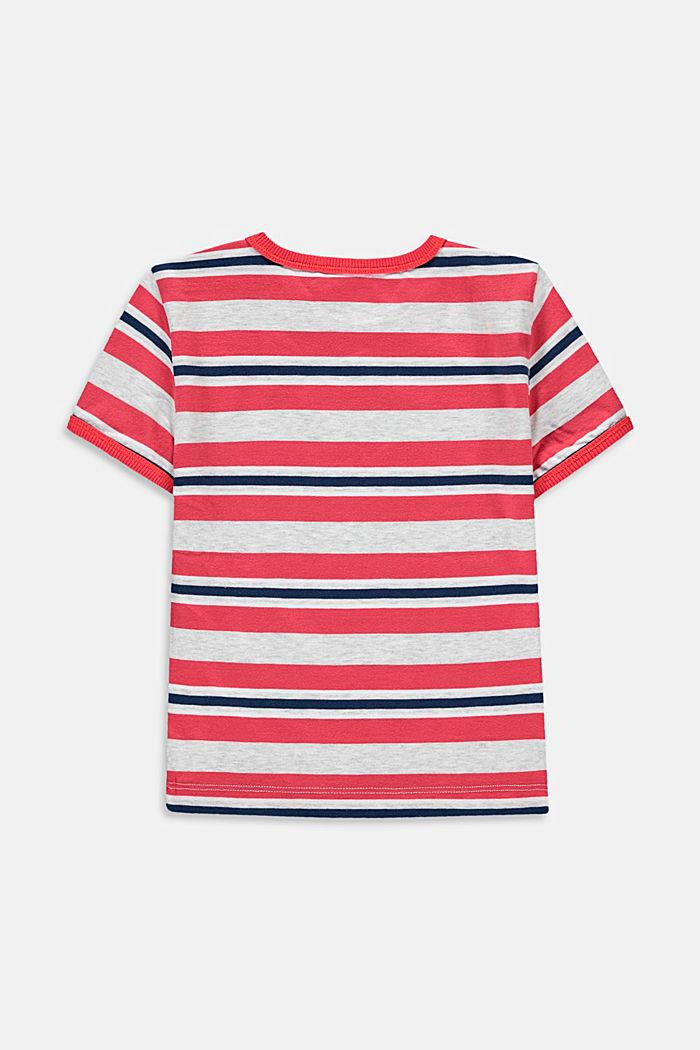 T-shirt à rayures, 100 % coton, GARNET RED, detail image number 1