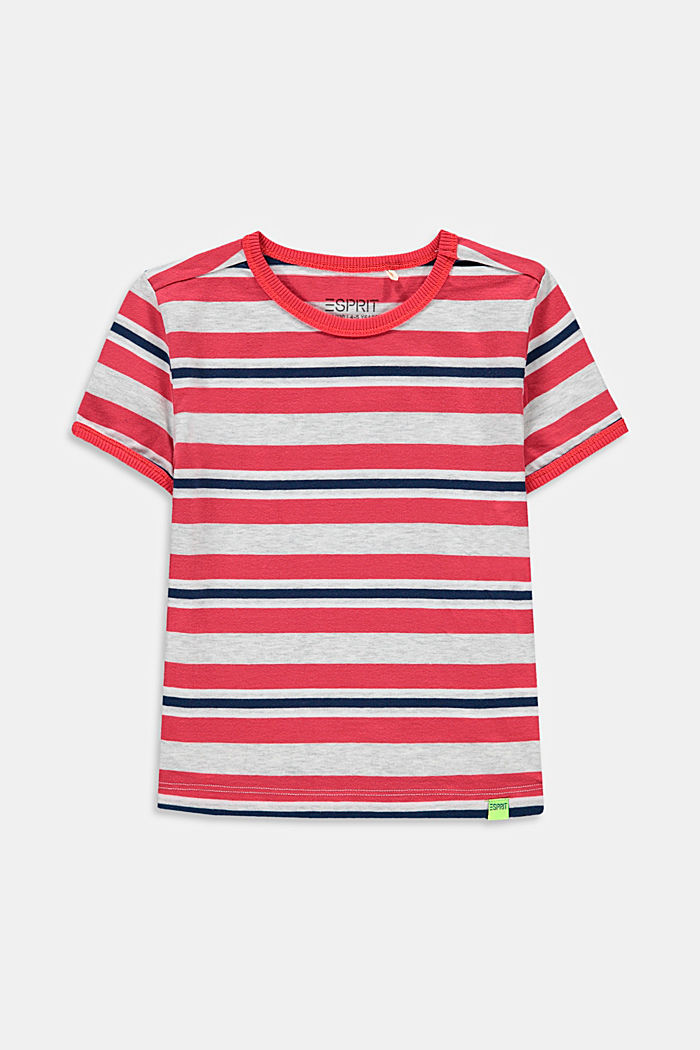 T-shirt à rayures, 100 % coton, GARNET RED, detail image number 0