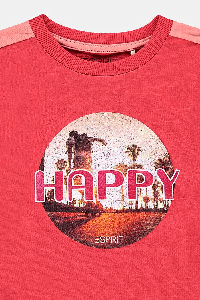 T-shirt met fotoprint, 100% katoen, GARNET RED, detail image number 2