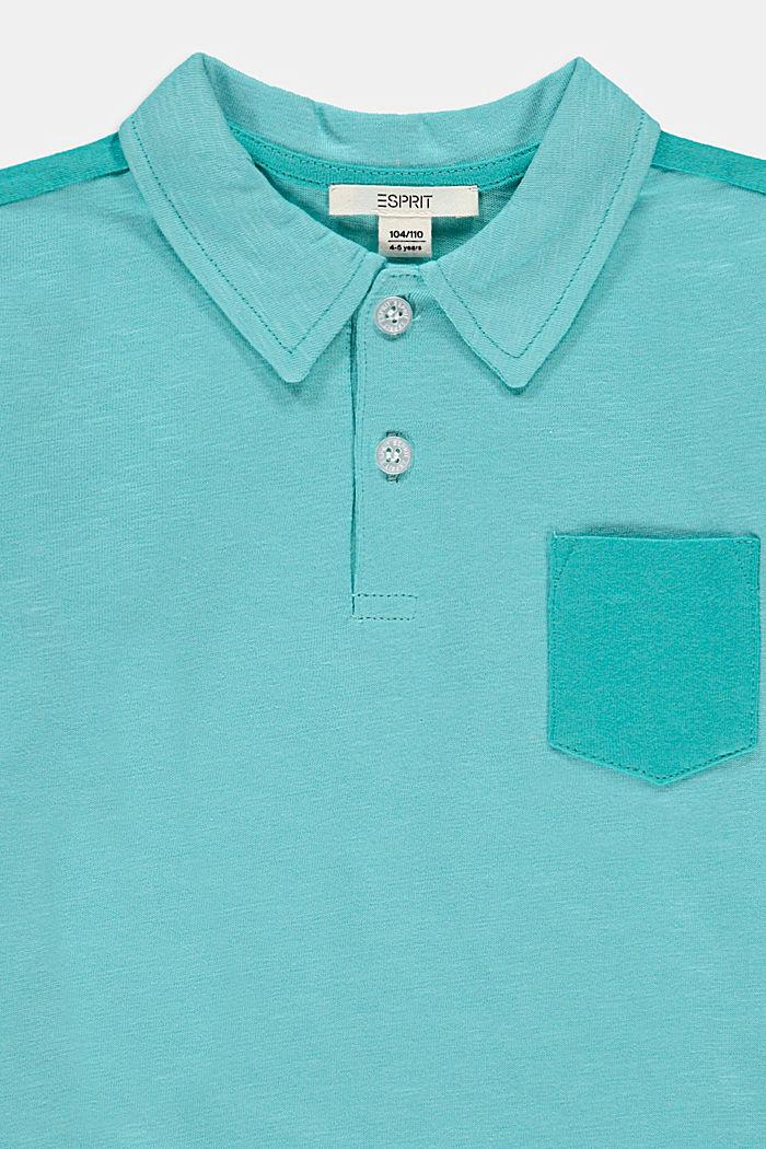 Polo en jersey 100 % coton, TEAL BLUE, detail image number 2