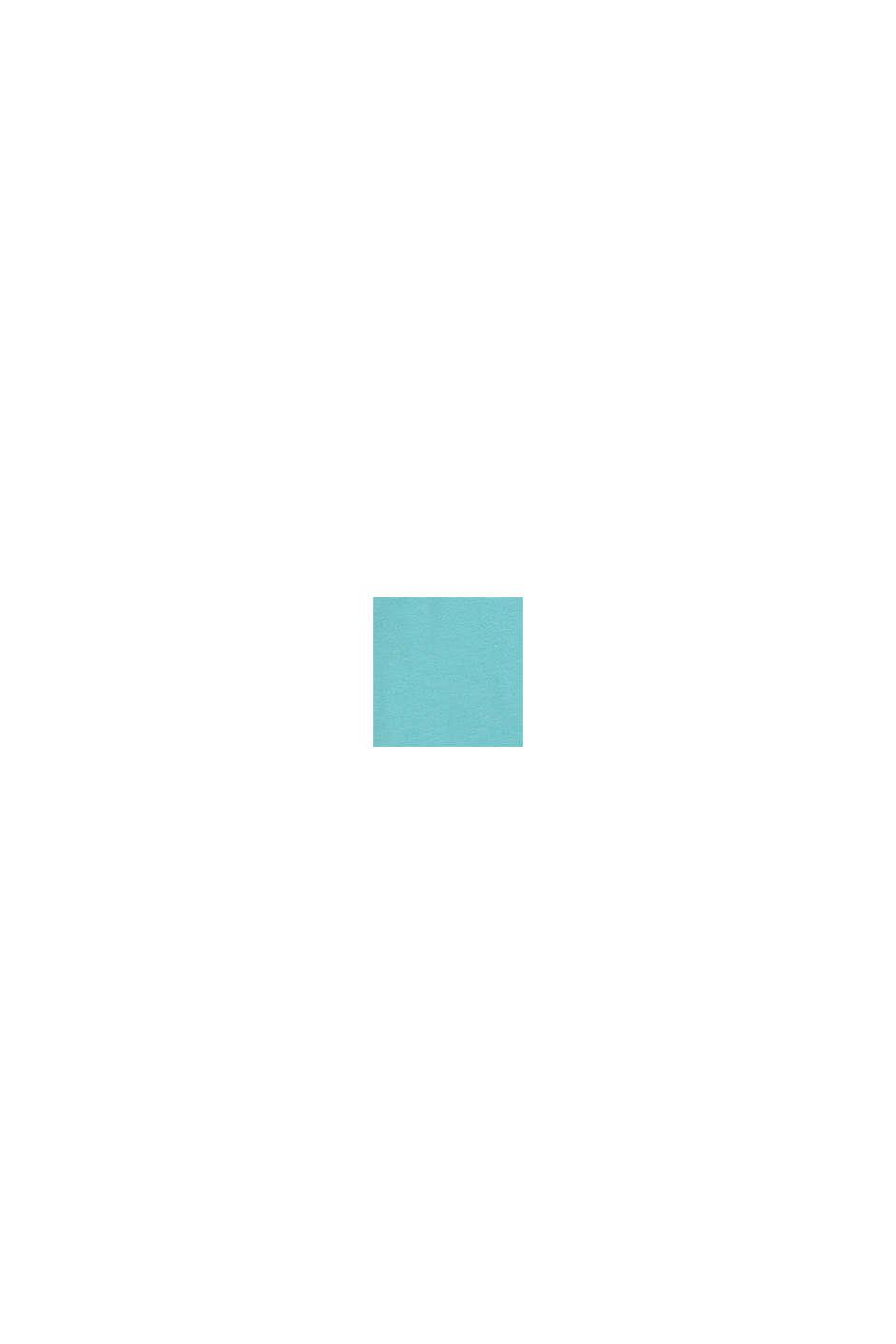 Jersey poloshirt van 100% katoen, TEAL BLUE, swatch