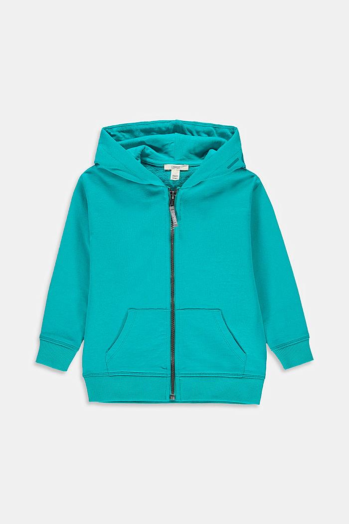 Zipp-Hoodie mit Logo-Print, 100% Baumwolle