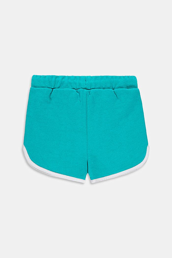 Pantalón corto de felpa en 100 % algodón, DARK TURQUOISE, detail image number 1
