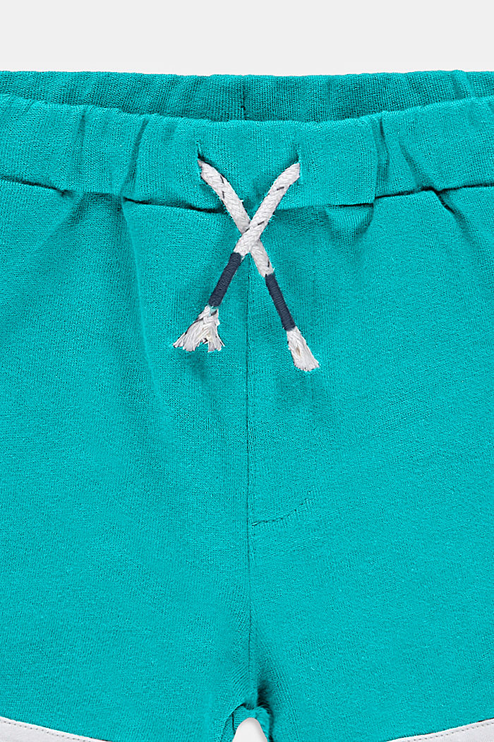 Pantalón corto de felpa en 100 % algodón, DARK TURQUOISE, detail image number 2