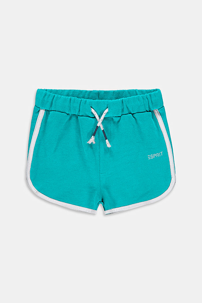 Pantalón corto de felpa en 100 % algodón, DARK TURQUOISE, detail image number 0