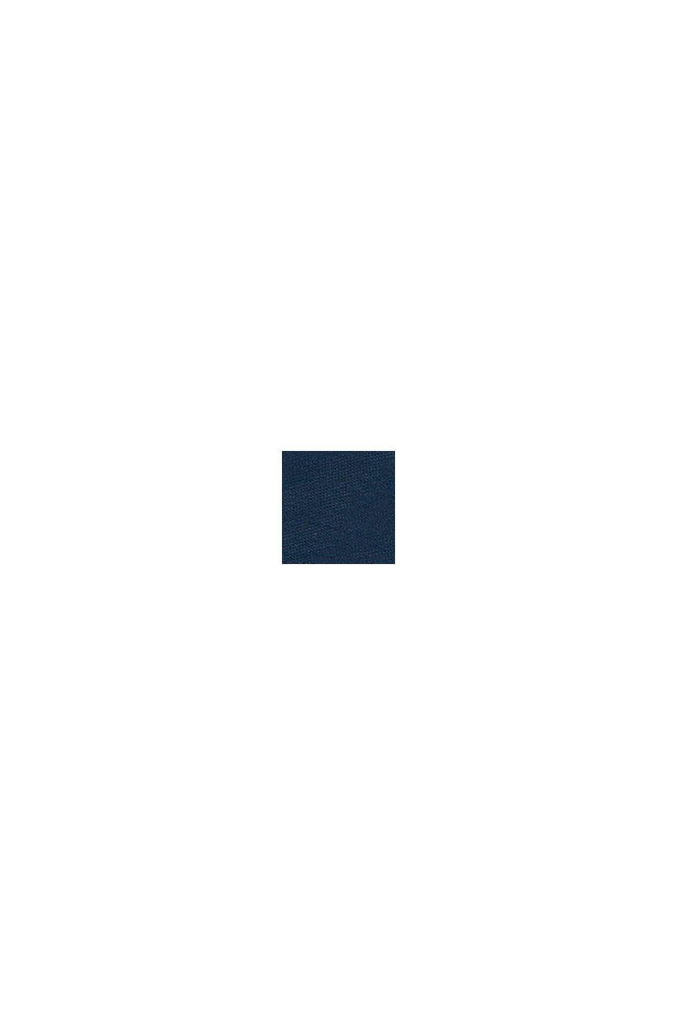 Sweatbroek met strepen opzij, 100% katoen, PETROL BLUE, swatch