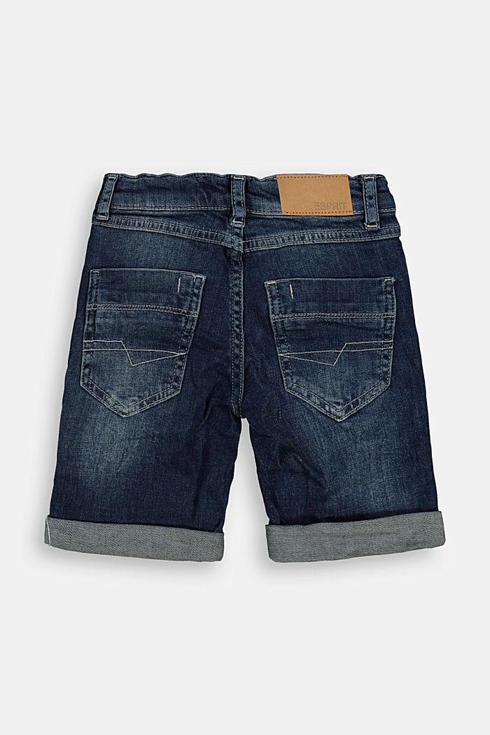 Jeans-Bermudas mit Verstellbund