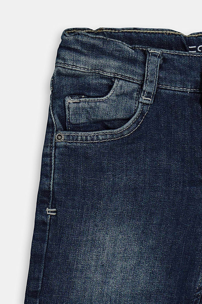 Bermuda di jeans con vita regolabile, BLUE MEDIUM WASHED, detail image number 2