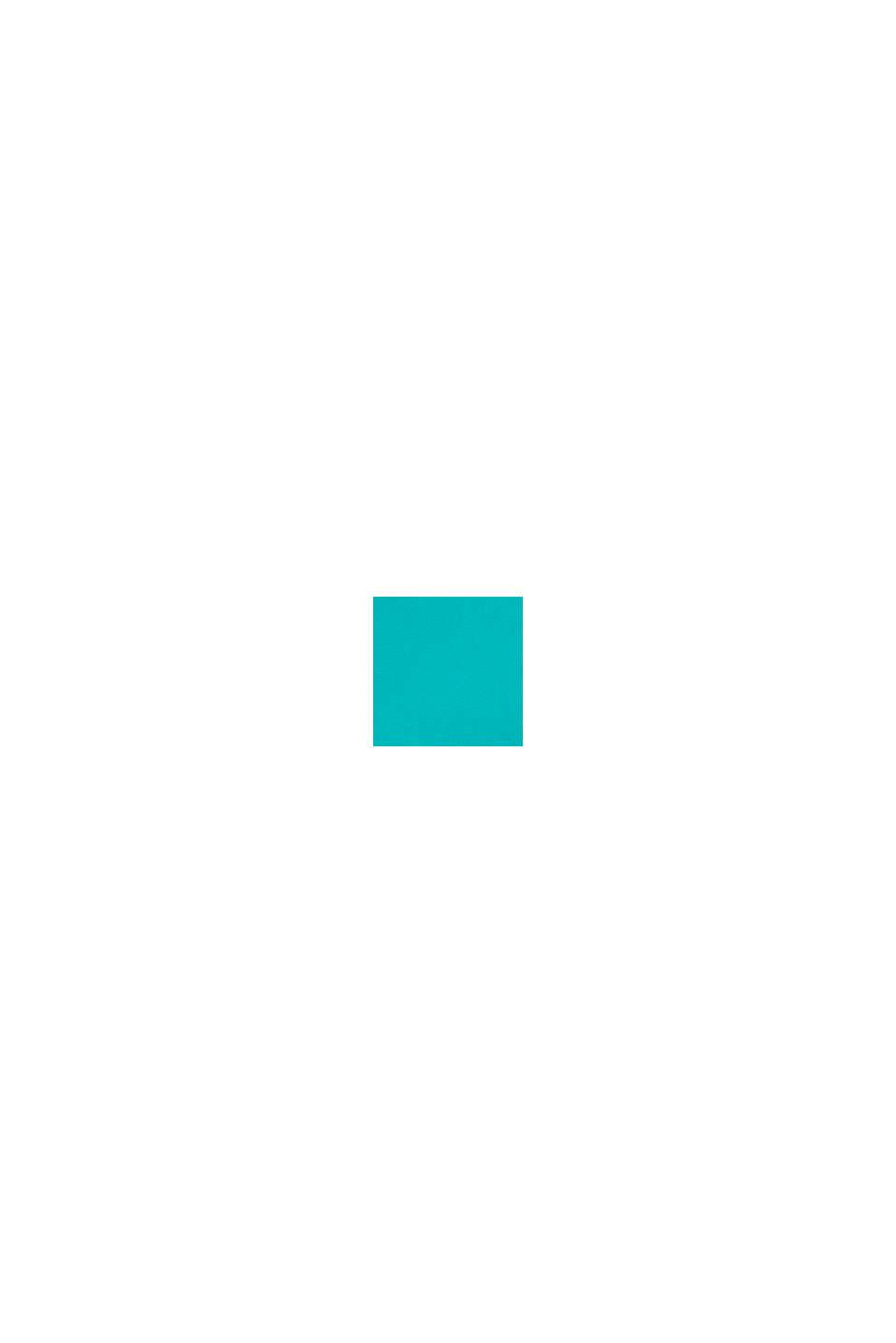 Bermudas mit Streifen-Print, Baumwoll-Stretch, DARK TURQUOISE, swatch