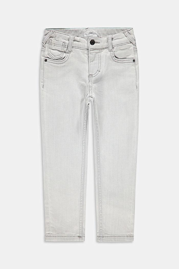 Schmale Stretch-Jeans mit Verstellbund