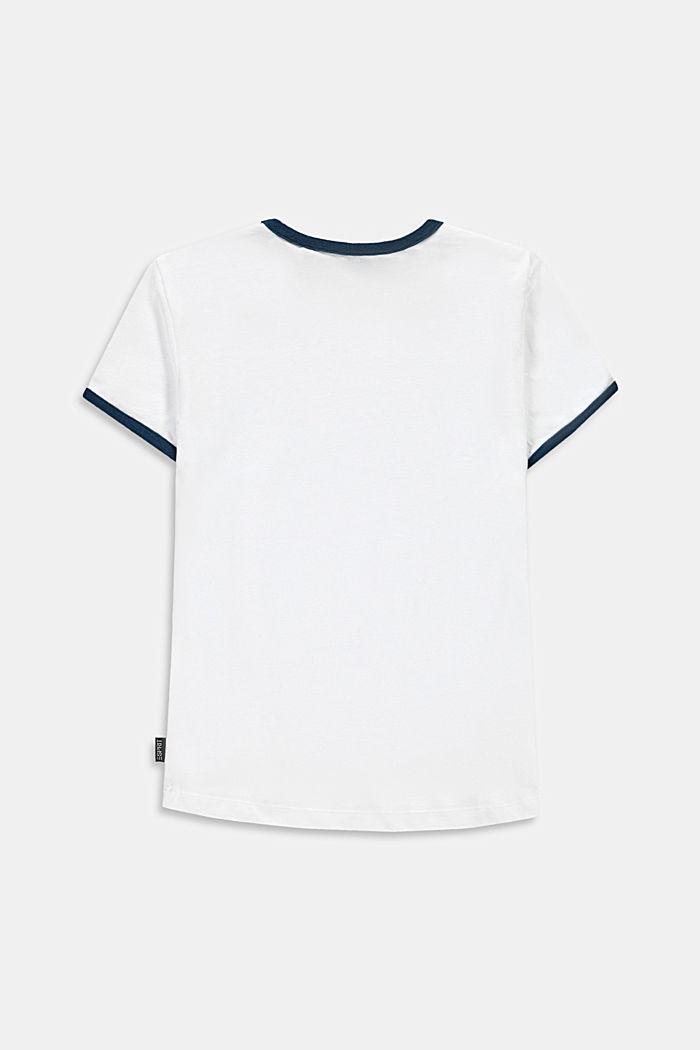 T-shirt z nadrukiem tęczy, WHITE, detail image number 2
