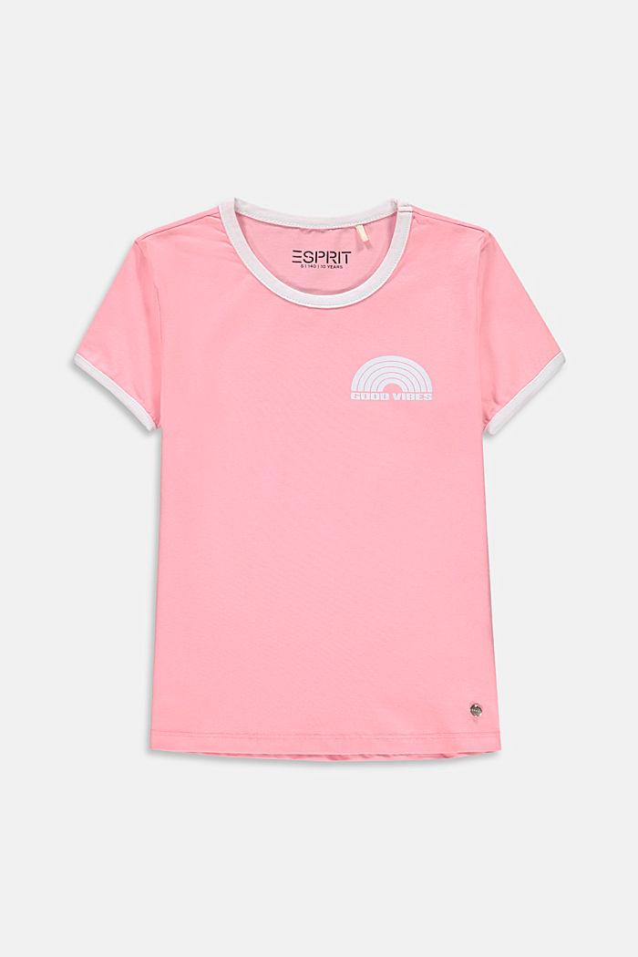 Sateenkaaripainettu T-paita, LIGHT PINK, detail image number 0
