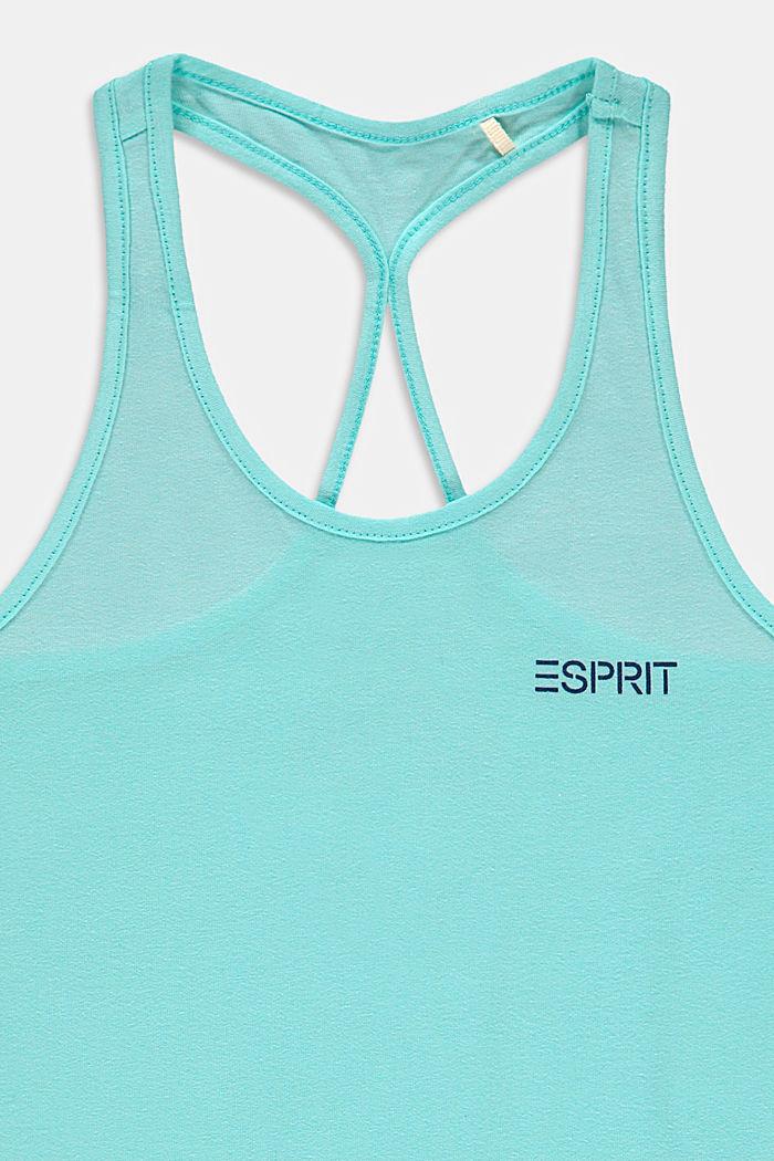 Ringer-Top mit Print aus 100% Baumwolle, LIGHT TURQUOISE, detail image number 2
