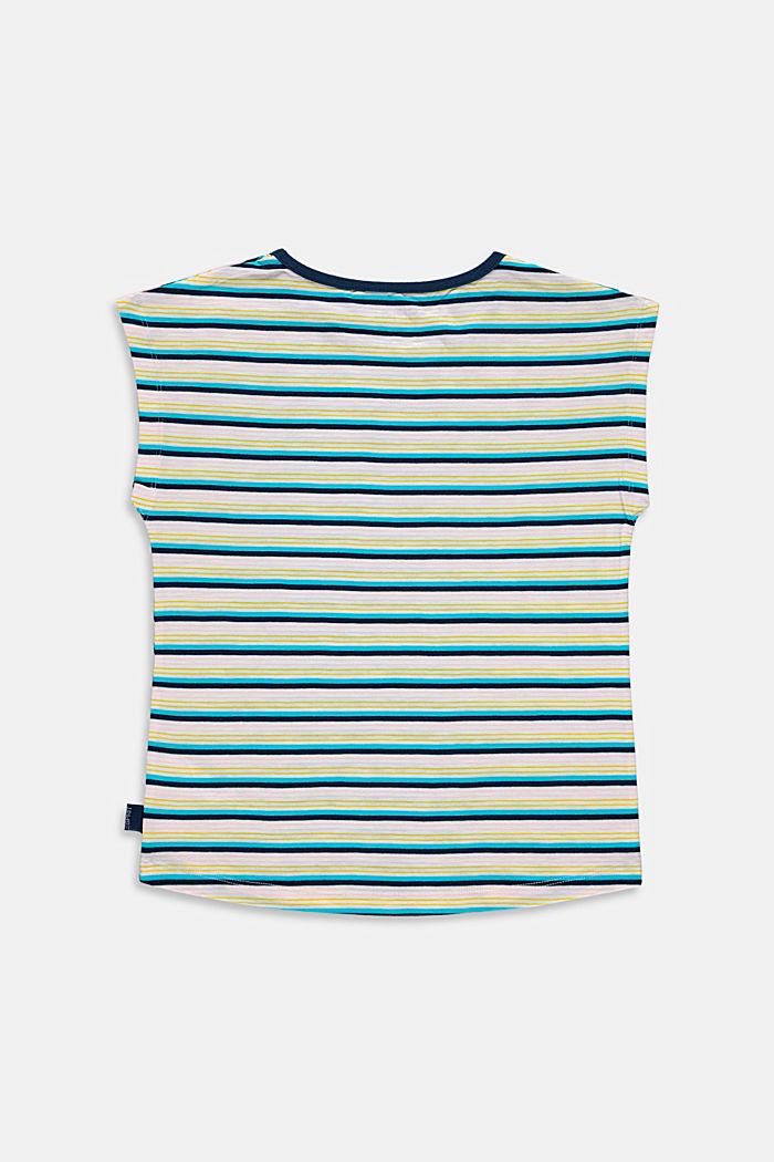 T-Shirt mit Streifen, 100% Baumwolle