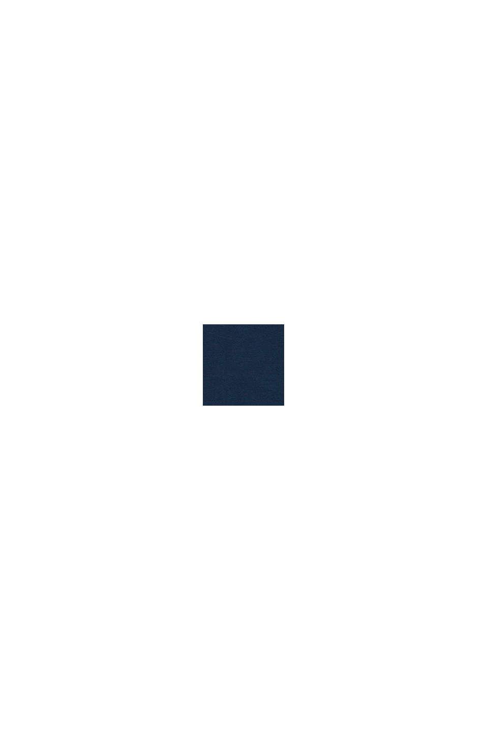Con lino: t-shirt con intaglio e logo, PETROL BLUE, swatch