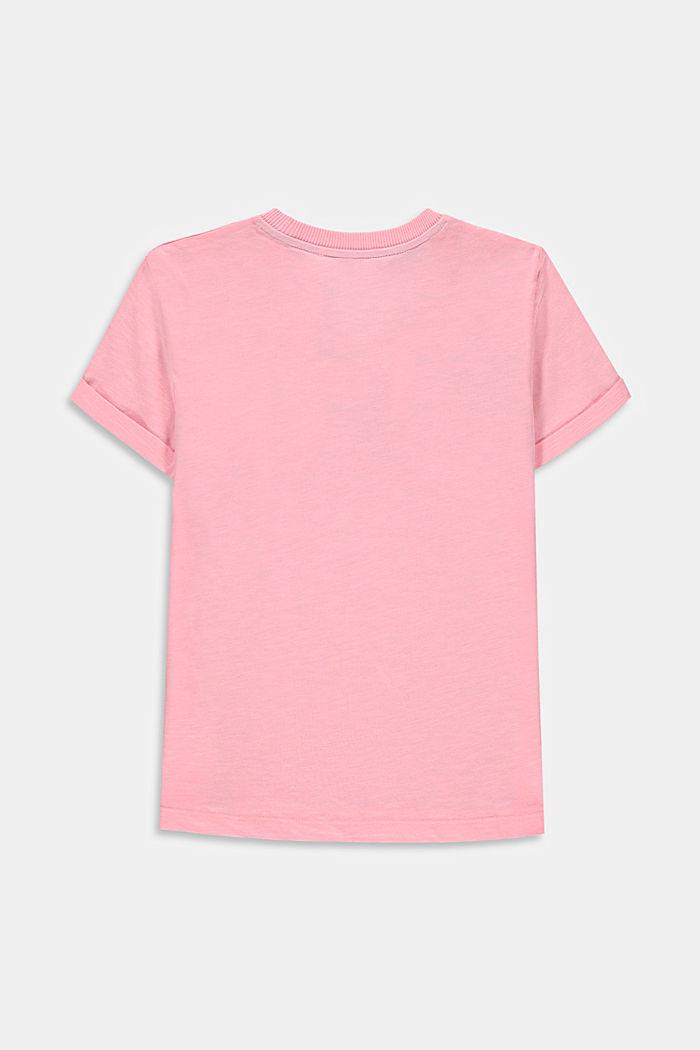 T-Shirt mit Print und Rollsäumen