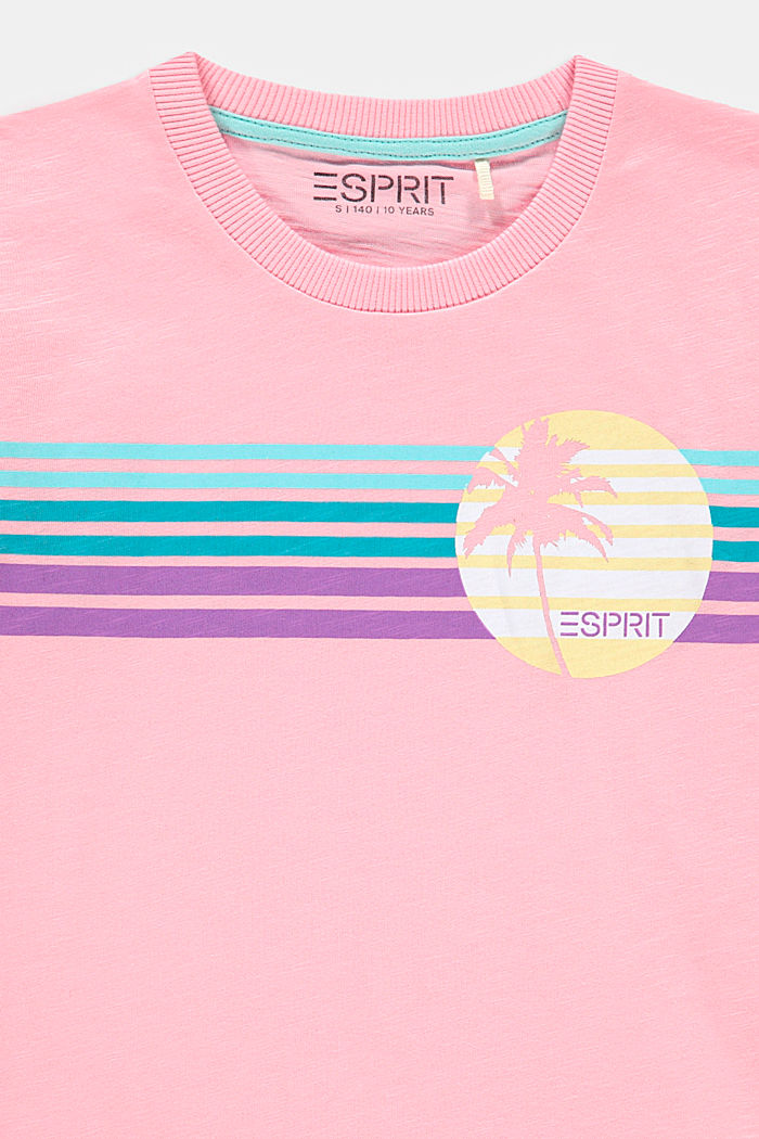 T-shirt con stampa e orli arrotolati, LIGHT PINK, detail image number 2