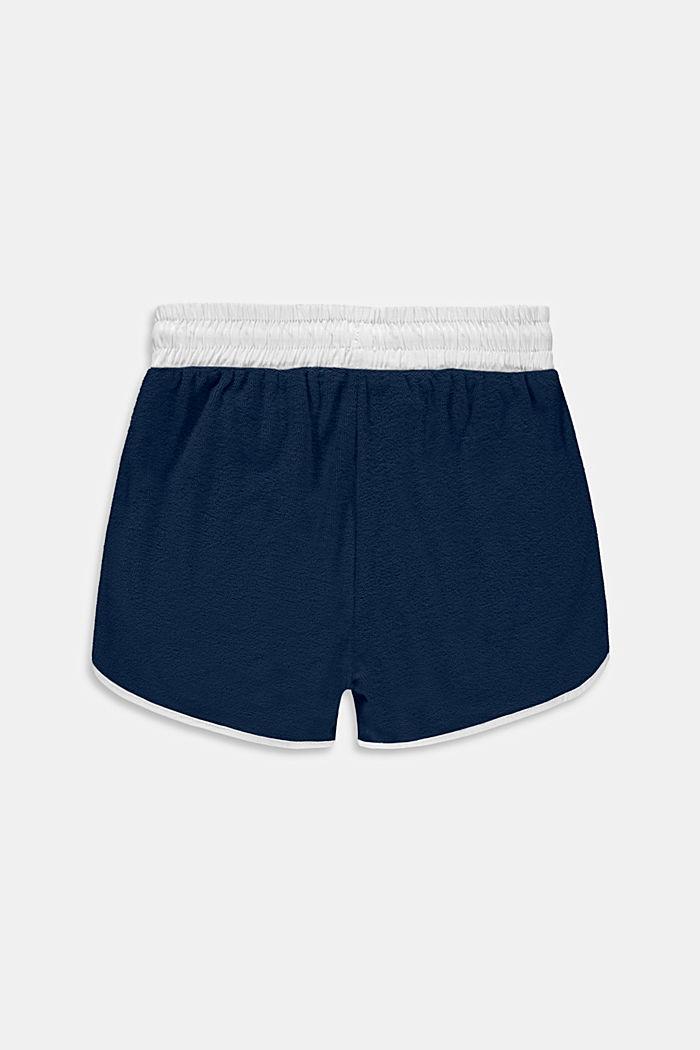Pantalón corto de felpa en 100 % algodón, PETROL BLUE, detail image number 1