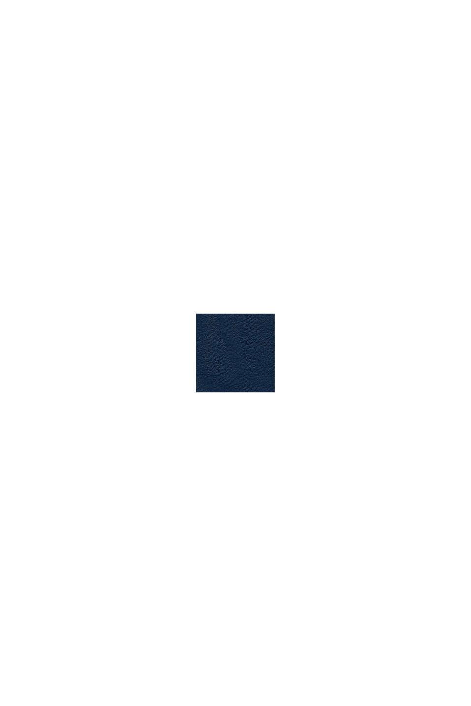 Pantalón corto de felpa en 100 % algodón, PETROL BLUE, swatch