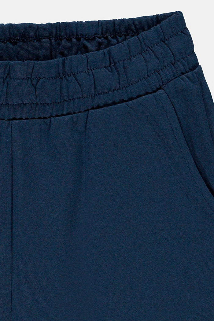 Short basique en jersey de coton stretch, PETROL BLUE, detail image number 2