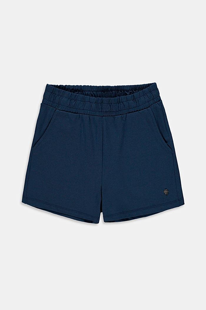 Shorts básicos confeccionados en jersey de algodón elástico
