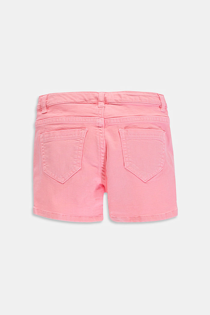Shorts vaqueros de color con cintura ajustable, LIGHT PINK, detail image number 1