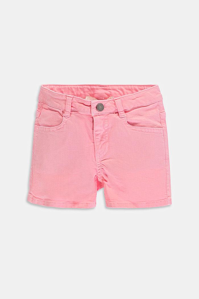 Shorts vaqueros de color con cintura ajustable, LIGHT PINK, detail image number 0