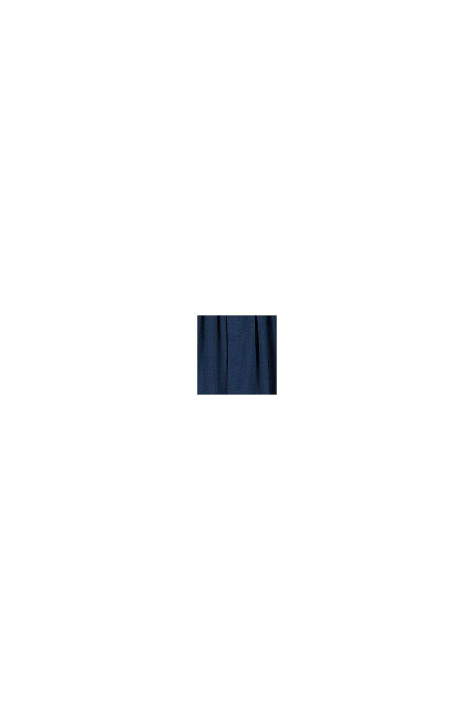 Midirok van jersey met gehaakte kant, PETROL BLUE, swatch