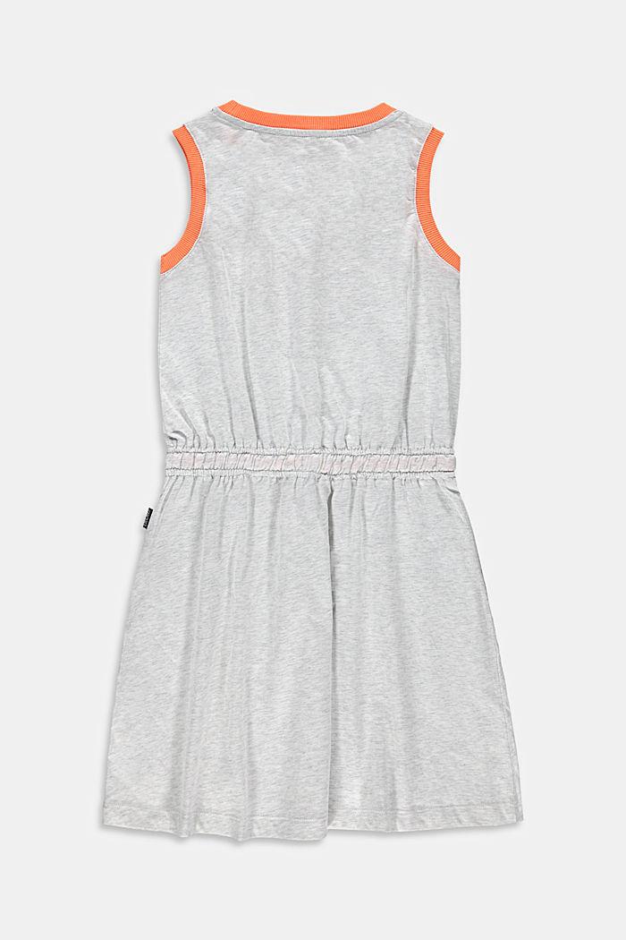 Jerseykleid mit Print aus Baumwolle, DUSTY NUDE, detail image number 1
