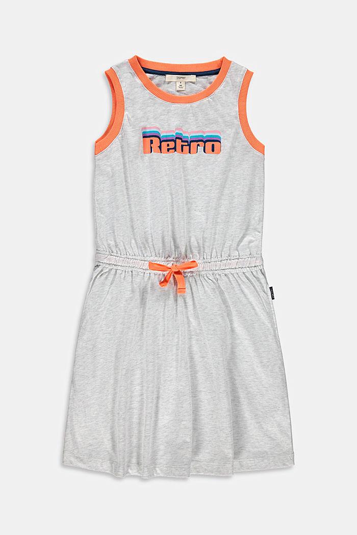 Jerseykleid mit Print aus Baumwolle