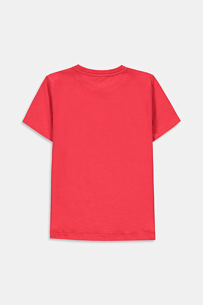 T-Shirt mit Print aus 100% Baumwolle, GARNET RED, detail image number 1