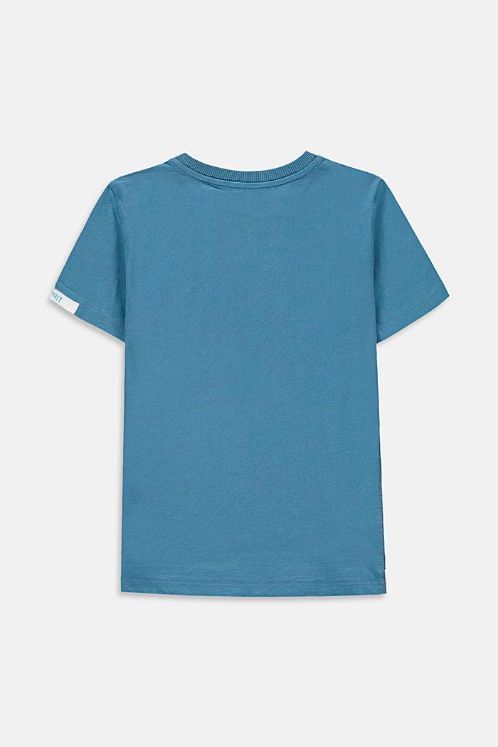 T-Shirt im Lagenlook aus 100% Baumwolle, GREY BLUE, detail image number 1